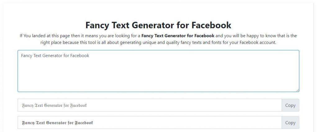 Fancy Text Generator for Facebook
