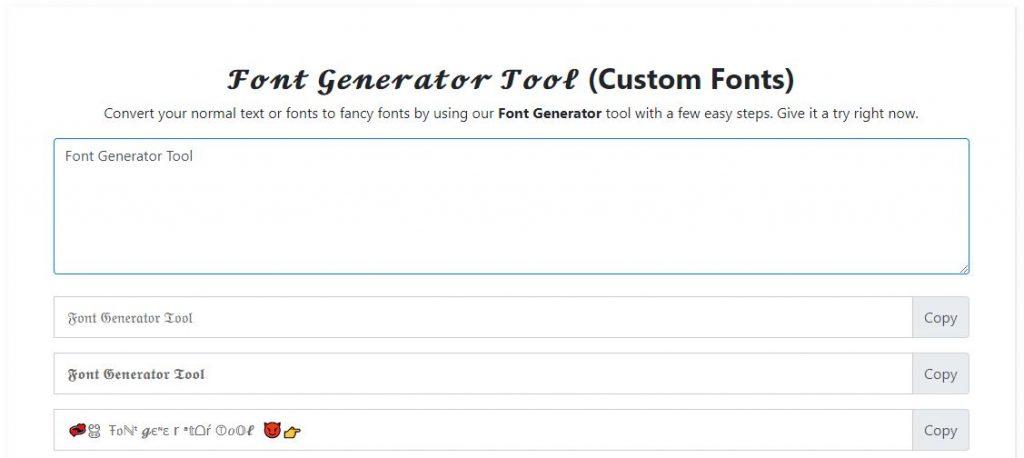 Font Generator Online Tool